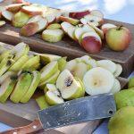 ...грозде, дюли и ябълки, подбрани внимателно от нас,...